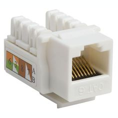Intellinet Network Solutions Cat6 Keystone Jack - White by Intellinet. $1.59. CAT6 WHITE KEYSTONE JACKPUNCH-DOWN. Save 80% Off!