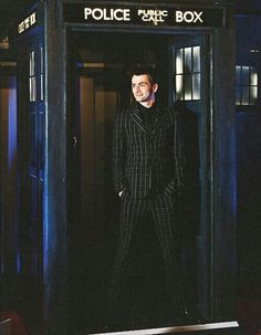 David Tennant and the TARDIS