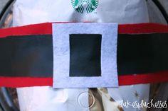 Santa belt gift wrap