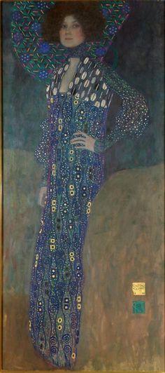 Gustav Klimt (Austrian, 1862–1918) - Emilie Flöge (detail), 1902 - Oil on canvas - Wien Museum, Vienna