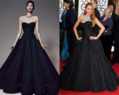 Look de Zac Posen Pre Fall 2014 / Sofia Vergara en la alfombra roja de los Golden Globes Awards