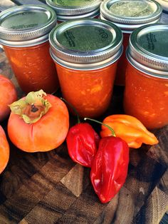 Persimmon Habanero Pepper Jam