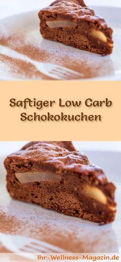 Rezept für einen Low Carb Schokokuchen - kohlenhydratarm, kalorienreduziert, ohne Zucker und Getreidemehl