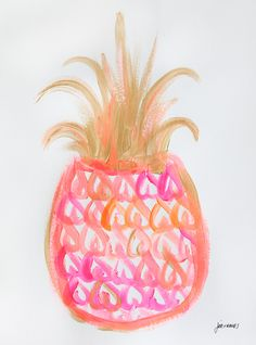 Pineapple 29 - an original painting by Jen Ramos at Cocoa & Hearts