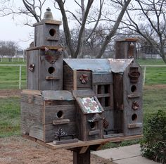 The birds in our garden love this bed and breakfast!!