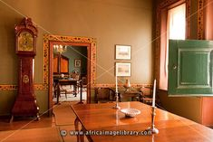 Photos and pictures of: Cape Dutch manor house interior, Boschendal Estate, Franschhoek, South Africa - The Africa Image Library Cape Dutch, Interior Architecture, South Africa, Holland, Beautiful Homes, Cape Town, Clocks, Palace, Fill