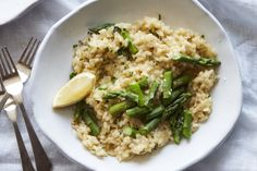 Asparagus and Parmesan Risotto - What's Gaby Cooking