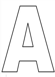 Resultado de imagem para letras grandes para imprimir e recortar