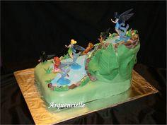 Gâteau fée clochette vue dos