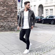 WEBSTA @ magic_fox - Today's look*One of my fav. Jackets by @selected_homme Check out by blogpost about that outfit - Link in BioHave a good day!––––––––––#selectedhomme #tmm #grey #suede