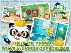 FREE app for kids (limited time offer): Dr. Panda's Handyman for iPhone & iPad Best Android, Android Apps, Games For Toddlers, Activities For Kids, Learning Tools, Kids Learning, Ipod Touch, Ipad, Learning Through Play