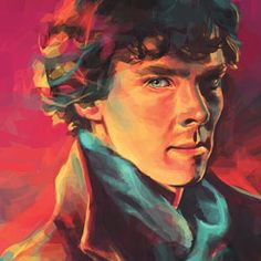 A Study In Cyan by Alice X Zhang is beautiful art print featuring Benedict Cumberbatch as Sherlock Holmes from the popular show
