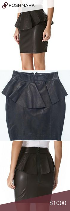 ISO Torn by Ronny Kobo Gigi leather peplum skirt Not for sale.   Looking for black leather peplum skirt as shown in photo. Brand is Torn by Ronny Kobo.   Looking for size XS but will also consider small. Please let me know if you have one you're willing to part with.  Thank you! Torn by Ronny Kobo Skirts