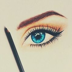 Find images and videos about art, blue and eyes on We Heart It - the app to get lost in what you love. Cool Eye Drawings, Tumblr Drawings, Amazing Drawings, Art Drawings Sketches, Pencil Drawings, Amazing Art, Makeup Drawing, Estilo Anime, Eye Art