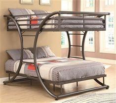 Harriet Bee Prather Twin Over Full Over Queen Triple Bunk Bed