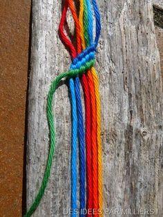 Technique pour faire des bracelet en laine
