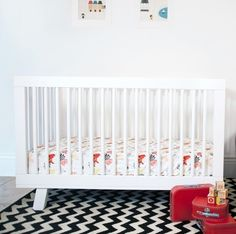 Babyletto Hudson 3-in-1 Convertible Modern Baby Crib in White - Click to enlarge