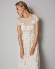 Phase Eight Liliana Embellished Wedding Dress White