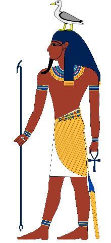 Geb : dieu de la terre, époux de Nout, tous deux issus de Chou et de Tefnout ; ils sont parents d'Osiris, Isis, Seth et Nephtys.