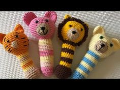 Chocalho em Amigurumi - YouTube Baby Blanket Crochet, Crochet Baby, Free Crochet, Knit Crochet, Crochet Mouse, Crochet Dolls, Baby Boy Knitting, Christmas Crochet Patterns, Fun Crafts