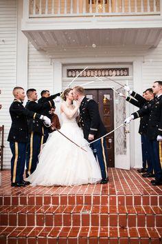 James and Amanda's #memphis wedding. #military #sendoff