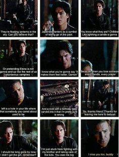 Alaric and Damon. Easily one of the saddest moments of vampire diaries :( Bromance is dead!