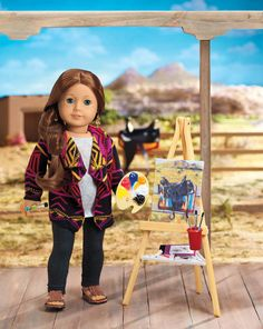 """Our Generation Art Class Paints Sketch Acc.Set for 18/"""" American Girl Doll Saige"""