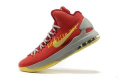 cheap for discount bb546 99a3f kevin durant shoes 2013 Nike KD V Bright Crimson Volt Wolf Grey 554988 610