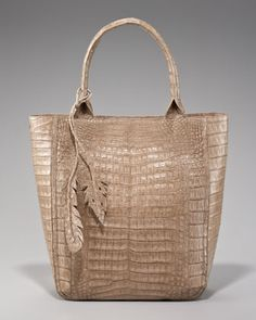 Crocodile Leaf Tote by Nancy Gonzalez at Neiman Marcus.