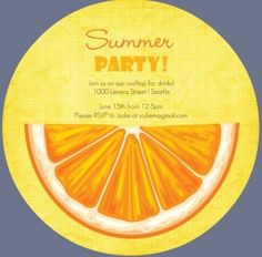 Colorful citrus fruit summer party invitation fruta pinterest planning an outdoor barbecue bash keep your guests enjoying their fun in the sun with this list of creative outdoor party games from purpletrail stopboris Choice Image