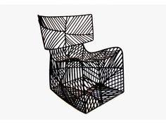 Diallo Chair: las trampas tradicionales utilizadas por los pescadores de Mali inspiraron el diseño de esta silla, que hace uso de una combinación de hilo de pescar y nylon, que se estira sobre una armadura metálica. Diseño  Cheick Diallo's studio