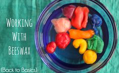 {Beeswax Modeling Clay} A little package of modeling beeswax has brought a whole new angle to our creative time. Beeswax allows my little ones a little more permanence than with play dough, doesn't crack and crumble, and when my preschooler tires of his work, all he has to do is ball it all back up and he can start again!