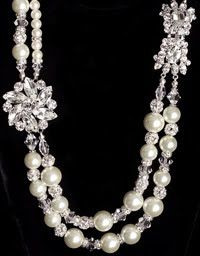 asymetric freshwater pearl necklace with crystal brooch and clasp