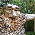 Friendly Giants Built From Recycled Wood Hidden in the Forests of Copenhagen