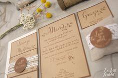 [WEDDING] Wedding Suite Lace Rustico Chic_partecipazione matrimonio designed by Le Petit Rabbit