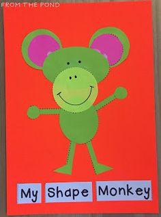 Frog Spot: Zoo Animal Shape Craft + A Freebie Shape Activities Kindergarten, Geometry Activities, Toddler Learning Activities, Preschool Learning Activities, Kindergarten Art, Preschool Crafts, Teaching Resources, Toddler Teacher, Learning Shapes