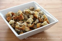 Classic Homemade Bread Stuffing - bakedbyrachel.com (1st time making this and it was simply amazing!)