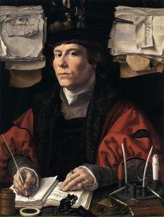 Artist: Gossaert, Jan, Title: Portrait of a Man, Date: ca. 1530