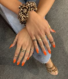 30 Amazing Nail Art Designs Ideas For You - Page 20 of 22 - Nail Art & Nail Designs Ideas Nail Design Stiletto, Nail Design Glitter, Minimalist Nails, Orange Nails, Pink Nails, Cute Nails, Pretty Nails, Hair And Nails, My Nails