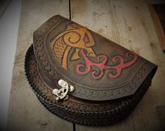 Leather Belt Pouch, Leather Belts, Leather Tooling, Tandy Leather, Biker Gear, Leather Carving, Arm Armor, Celtic Designs, Leather Design