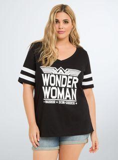 Wonder Woman Football Tee