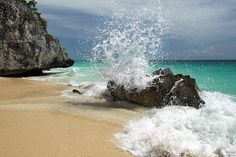 Tulum Beach on the Maya Riviera, Mexico - One of my favorite places.