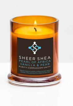 SHEER SHEA CANDLE - PEARL OF AFRICA VANILLA & PEAR*