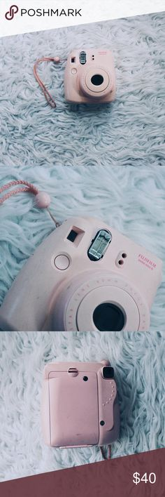 Instax Mini Camera has outer damage such as scuffs (can be cleaned) and the plastic piece that covers the flash is missing. Everything still works perfectly including the flash. Last photo shows photos I've taken with this camera. Urban Outfitters Other