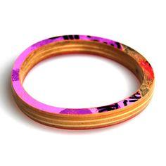 Recycled skateboard bangle bracelet! From Maple XO $24