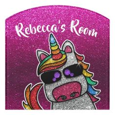 $31.24 | Rainbow Glitter Magic Unicorn Magical Sparkles #rainbow #glitter #unicorn #roomsign #sparkles #daughter #girly #magic #magical #whimsical Kids Door Signs, Foam Adhesive, Dry Erase Board, Room Signs, Acrylic Material, Make Your Mark, Nursery Room, Baby Gifts, Whimsical