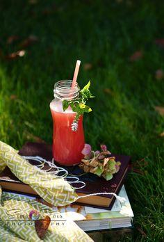 Summer coolers : Watermelon n' wine sangria or  Virgin watermelon ginger ale