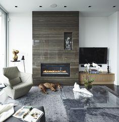 Fireplace design #luxury #interiors #fireplace