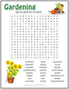 Teach young ones all about the garden with this printable Gardening Word Search Puzzle. They'll enjoy searching for garden-themed words such as snails and sunshine. Just add water and watch those young minds grow! Word Puzzles For Kids, Free Word Search Puzzles, Free Printable Word Searches, Free Printable Puzzles, Word Search Games, Word Games, Free Printables, Spanish Language Learning, Teaching Spanish