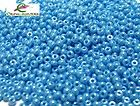 blue turquoise luster 11/0 preciosa seed beads rocalla